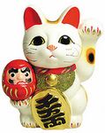 Maneki Neko with Daruma Coin Bank.jpg